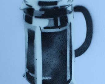 French Press on Paper