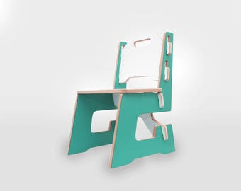Kids chair- Children chair - Childs chair - kids room decor, turquoise, turquesa, montessori furniture