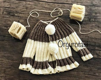Newborn Hand-Knit Sweater