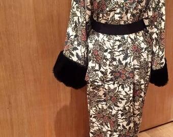 Floral furisode vintage kimono reworked