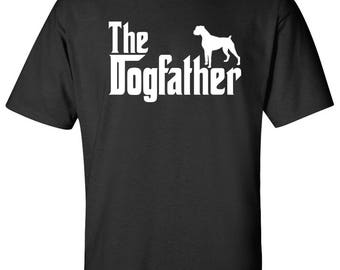 The Dogfather Boxer Dog Logo Graphic TShirt