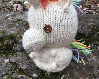 Hand Knit Unicorn Companion