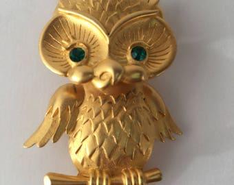 Vintage JJ (Jonette Jewelry) owl brooch