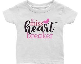 Little Miss Heart Breaker Valentine's Day Infant Tee