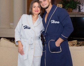 PERSONALIZED Robes, Mr and Mrs. Robe, Robes for Couple, Robes for Him and Her, Personalized Wedding Gift, Hotel Robes, Wedding Gifts