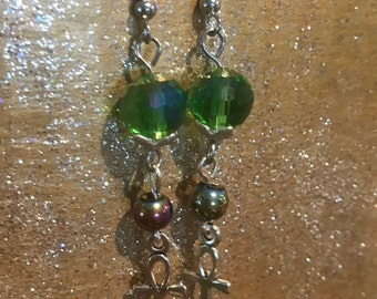 Crystal and Hemetite earrings