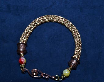 Viking Wire bracelet- Gold & Purple