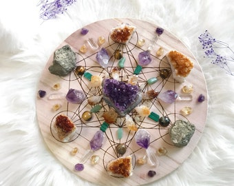 25cm Success and Prosperity Complete Set of Crystal Grid