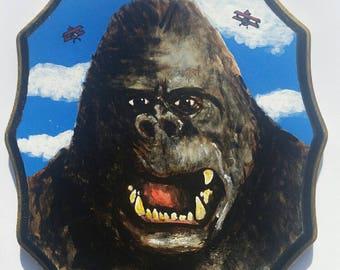 King Kong - Acrylic on wood original painting