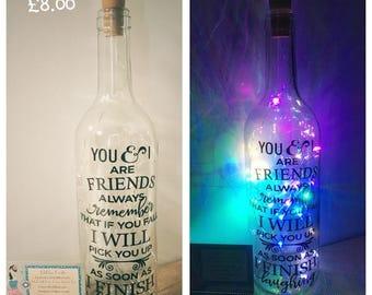 Personalised Light Bottle
