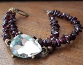 Ruby Garnet and Gemstone Bracelet