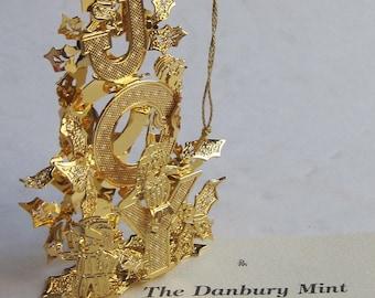 "Vintage Danbury Mint Christmas Ornament ""Joy"""