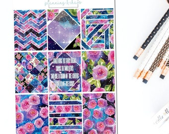 Cosmos - Full Boxes | Planner Stickers
