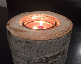 Maple Wood Candle Holder