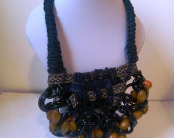 Handmade one-off Statement Necklace, Bead, Bold Necklace, Unique Necklace, it's a 'CALL OUT'