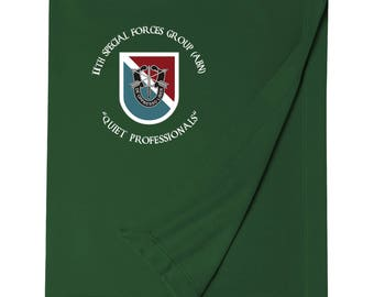 11th Special Forces Group Embroidered Blanket-3747