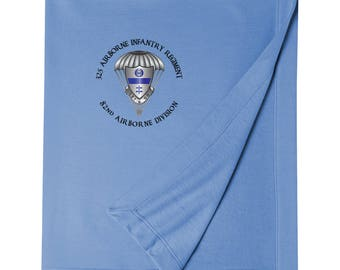 325th Airborne Infantry Regiment Embroidered Blanket-3470