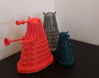 Dalek, 3D Printed Doctor Who Inspired Dalek, Exterminate, Doctor Who, Doctor Who Dalek, Doctor Who Fan, timey wimey, Tardis