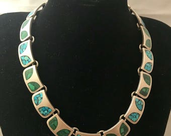 Turquoise Sterling Silver 16 inch Necklace