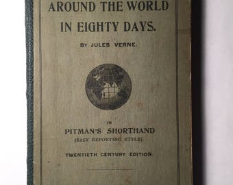 Around the World in Eighty Days by Jules Verne in Pitman's Shorthand