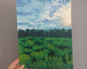 Sunny Field Landscape Painting