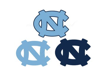 North Carolina Cut Files SVG & Studio 3 File for Silhouette Cricut Cutouts Decals SVGs Cutout Logos Logo Decal Football Tar Heels College