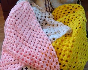 Tri-Color Baby Blanket