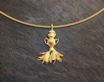 Pendant Floral with choker gold