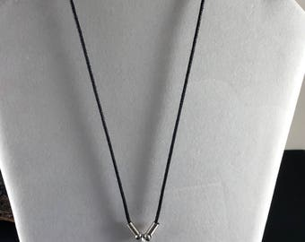 Black and Silver Heart Necklace