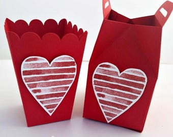 Valentine's Favors Treat Containers