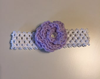 Handmade Purple Flower Baby Headband