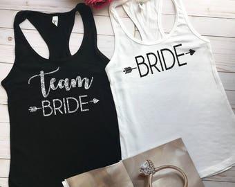 Bachelorette Party Shirts, Bridal Party Shirts, Bachelorette Shirts, Team Bride Tanks, Bride Shirt, Bridesmaid Gift, Team Groom b22