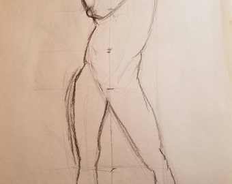Male Figure Line Drawing