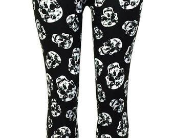 Women's Skull Printed Leggings