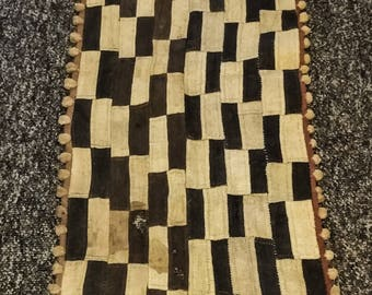 Vintage Handwoven African Kuba Cloth