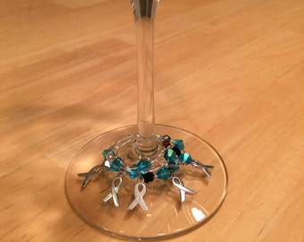 Cervical Cancer Awareness Wine Charms