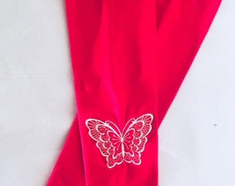 Red/White Embroidered Sleeves