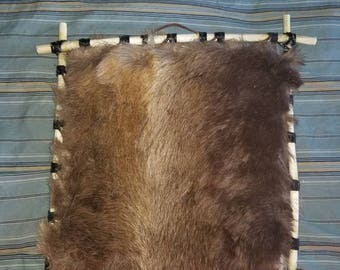 Alaskan Caribou Fur Spirit Hoop-double sided