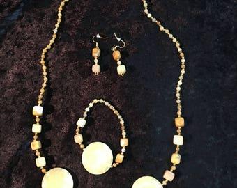 Yellow Agate Jewelry Set