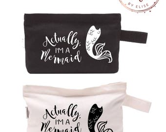 Actually I'm A Mermaid Customizable Cosmetic Makeup Bag