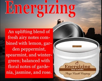 Energizing Scented Soy Candle Tin (8 oz.)