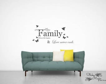 Family Where Life Begins 1 Wall Decal