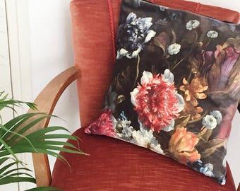 Floral Velvet Pillow