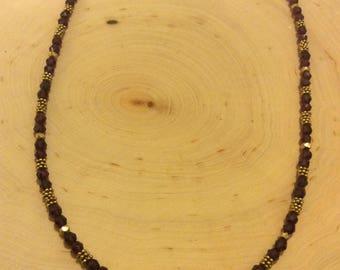 Garnet & Vermeil Necklace
