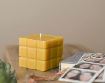 Beeswax Candle, Square Candle, Homemade Candles, Beeswax Candles,  100% Pure Beeswax Candle