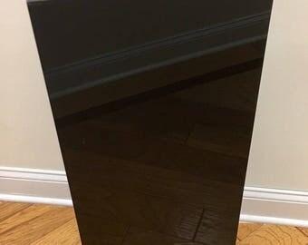 "Black Square Pedestal - 24"" x 12"""