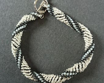 Hand sewn, dutch spiral bracelet
