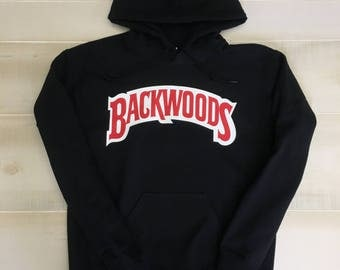 Backwoods Hoodie (Red&White Logo)