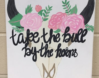 Custom Canvas Painting-Take the Bull By the Horns