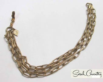 ANTIQUE Sarah Coventry Jewelry - Three-chain Bracelet  #9798